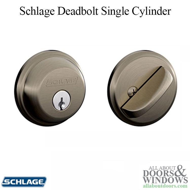 Schlage Deadbolt B360 Single Cylinder Antique Pewter