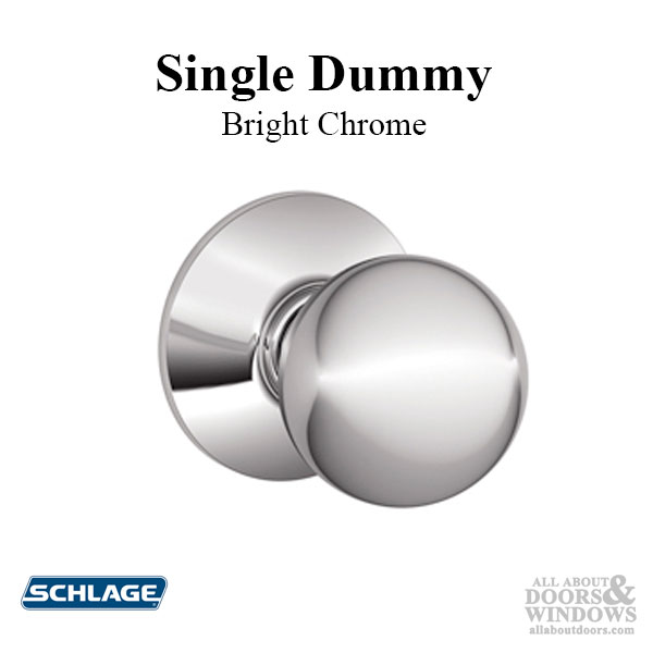 Schlage Orbit F170 Single Dummy Knob Bright Chrome