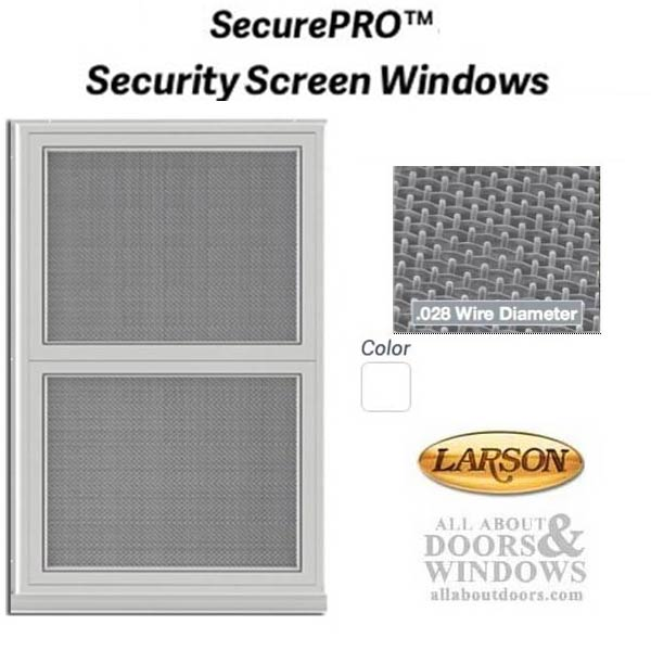 Larson Security Screen Window, Wire Mesh, Custom Sized