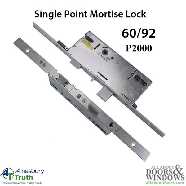 20mm P2000 Active 60 92 Spl Mortise Lock Body American